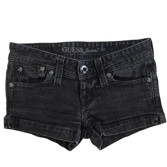 GUESS | Black Denim Shorts